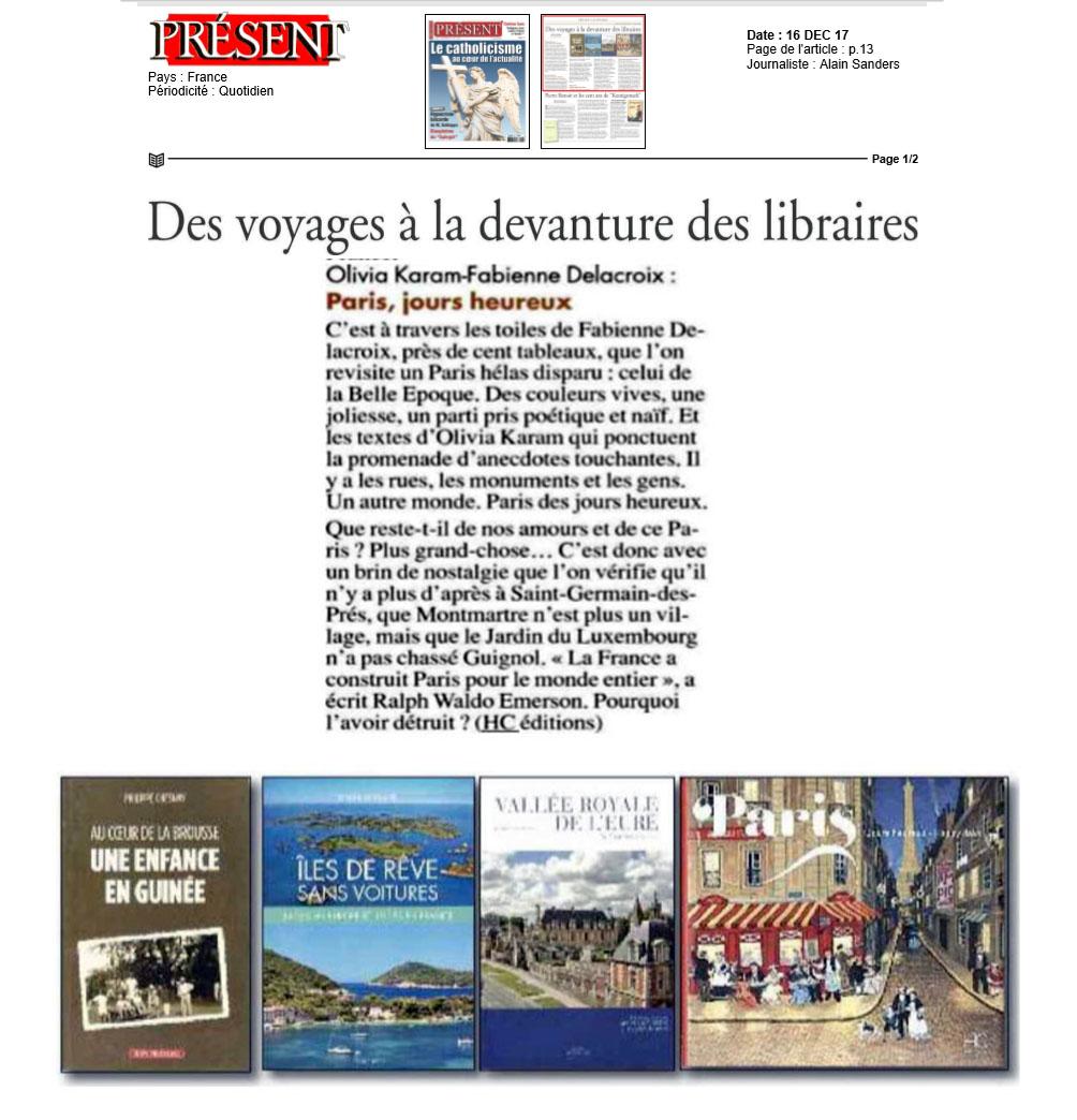 PRÉSENT : Des voyages à la devanture des libraires
