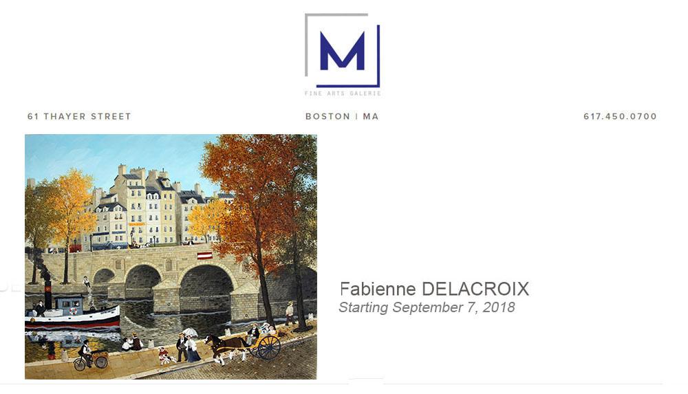 M FINE ARTS GALERIE : Septembre 2018 – Fabienne Delacroix