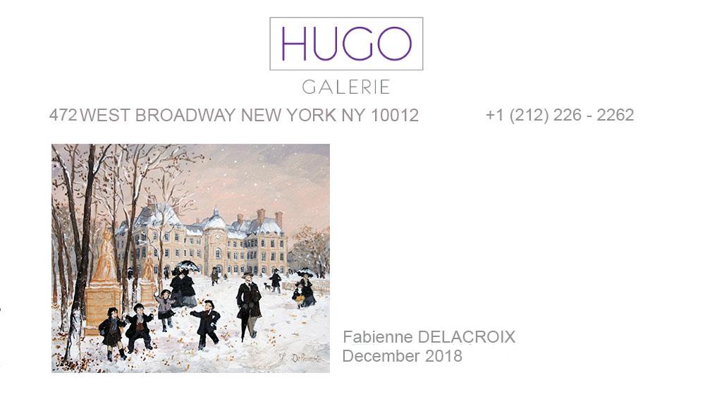 HUGO GALERIE : Décembre 2018 – Fabienne Delacroix