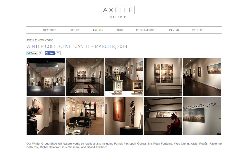 AXELLE NEW YORK WINTER COLLECTIVE : Fabienne Delacroix - JANV 11 - MARS 8, 2014