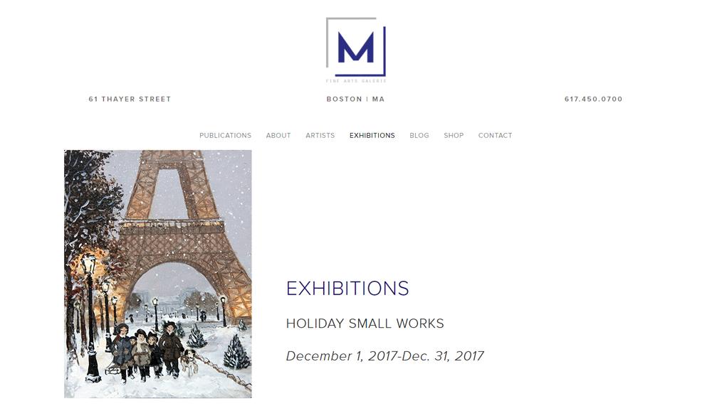 M FINE ARTS GALERIE : 1er Décembre 2017 – 31 Décembre 2017 – Holidays Small Works
