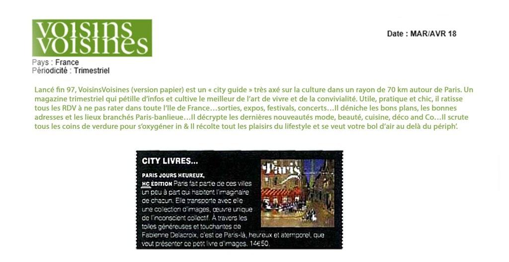 CITY LIVRES : Paris Jours Heureux, HC Edition