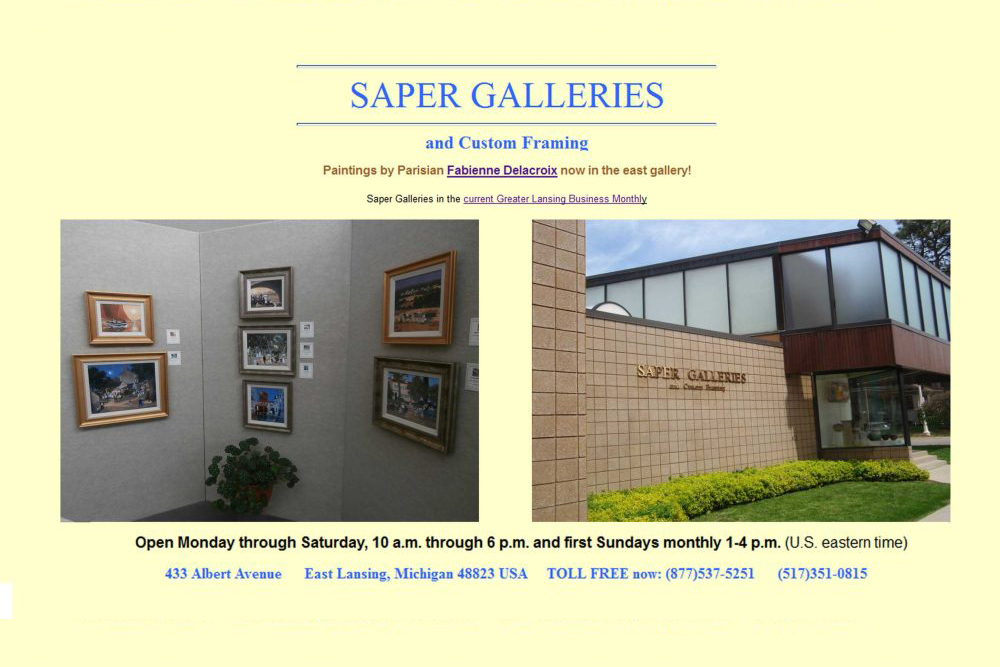 SAPER GALLERIES : Sept 2014