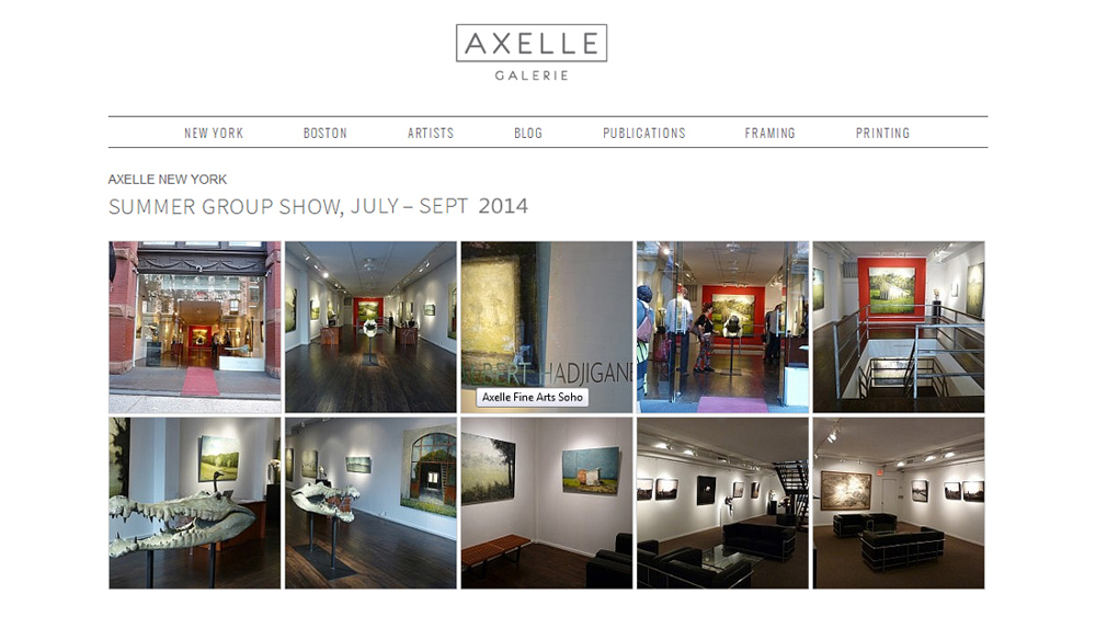 AXELLE New York : Juillet – Sept 2014