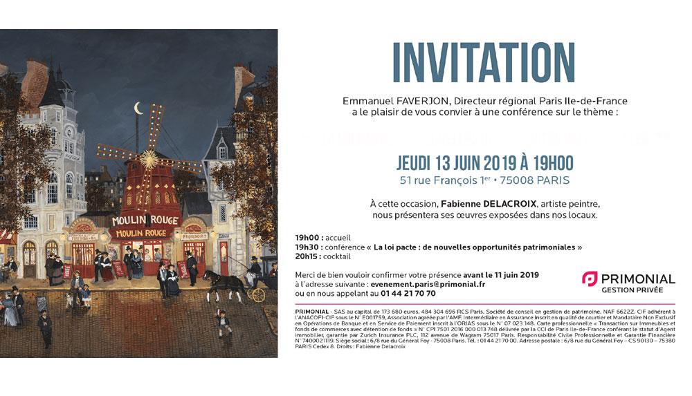 PRIMONIAL GEORGE V PARIS : Juin 2019 - Paris – Fabienne Delacroix