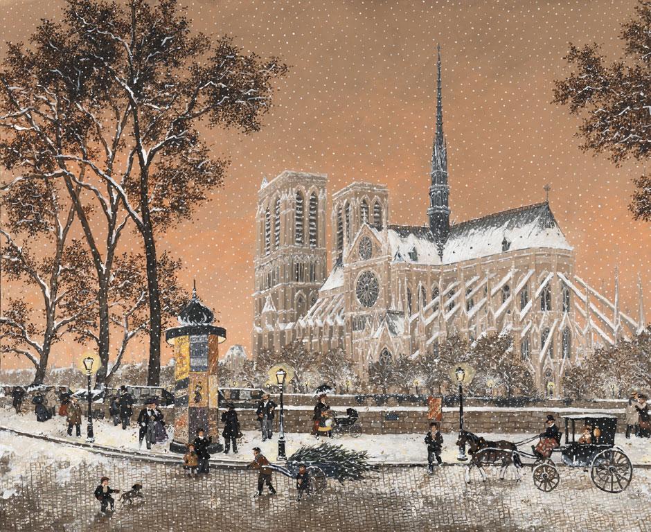 Première neige Notre Dame