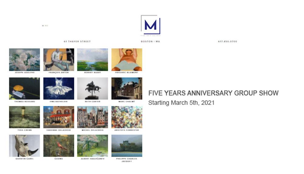 M Fine Arts Boston : Five years anniversary group show - 05 Mars 2021 – Fabienne Delacroix